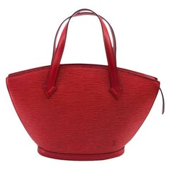 LOUIS VUITTON Saint-Jacques Shoulder bag in Red Leather