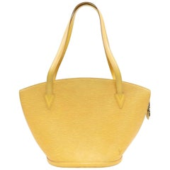 Louis Vuitton Saint Jacques Zip 870066 Yellow Leather Tote