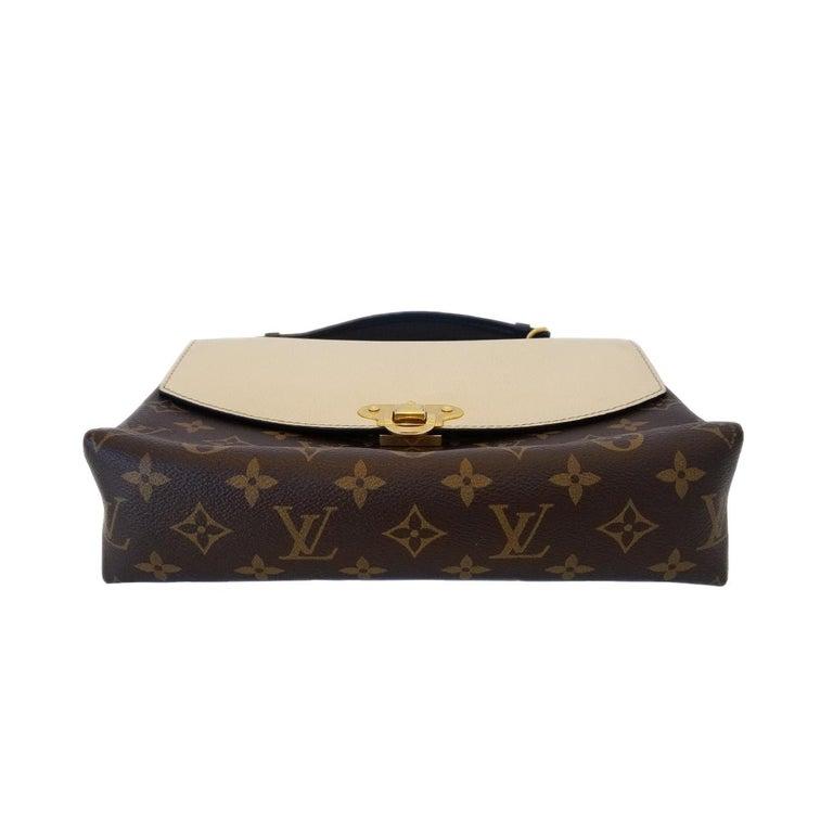 Women's Louis Vuitton Saint-Placide Beige & Brown Monogram Crossbody Handbag For Sale