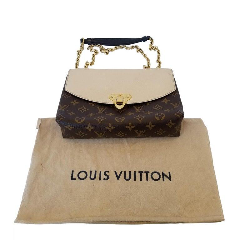 Louis Vuitton Saint-Placide Beige & Brown Monogram Crossbody Handbag For Sale 1