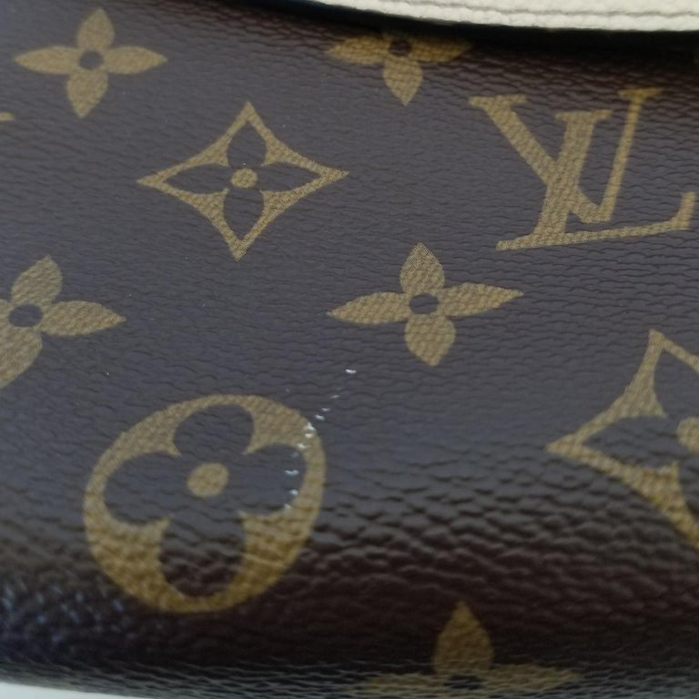 Louis Vuitton Saint-Placide Beige & Brown Monogram Crossbody Handbag For Sale 5