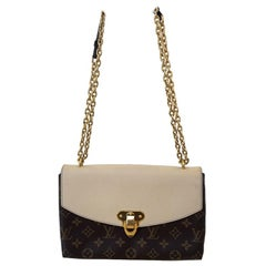 Louis Vuitton Saint-Placide Beige & Brown Monogram Crossbody Handbag