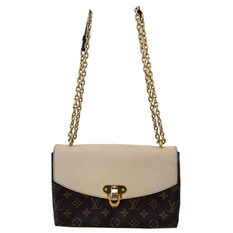 Louis Vuitton Saint-Placide Beige & Brown Monogram Crossbody Handbag For Sale