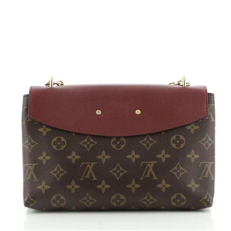 Louis Vuitton Saint Placide Handbag Monogram Canvas and Leather In Good Condition For Sale In New York, NY