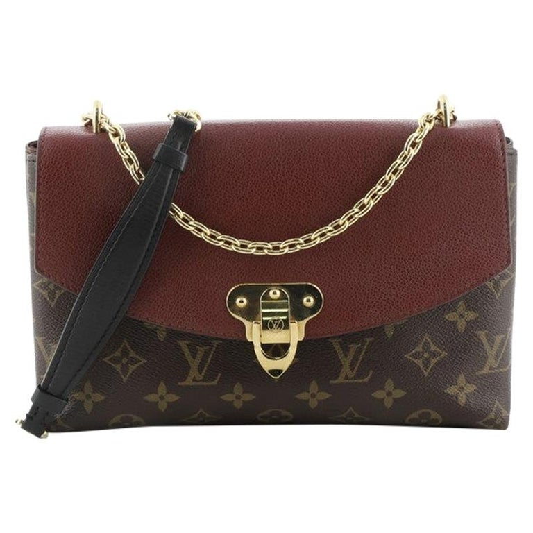 Louis Vuitton Saint Placide Handbag Monogram Canvas and Leather For Sale