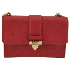 LOUIS VUITTON Saint Sulpice Shoulder bag in Red Leather