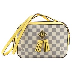 Louis Vuitton Saintonge Handbag Damier with Leather