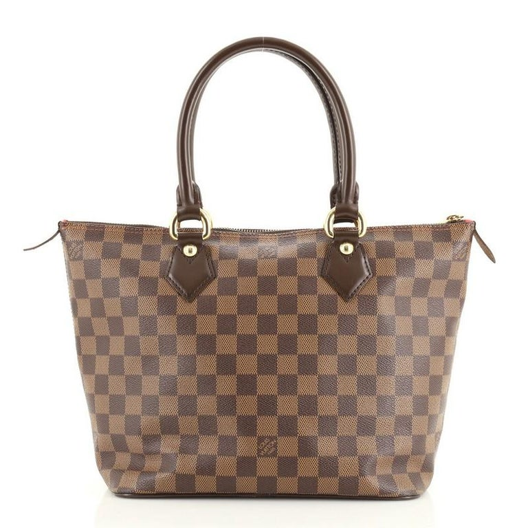 Brown Louis Vuitton Saleya Handbag Damier PM For Sale