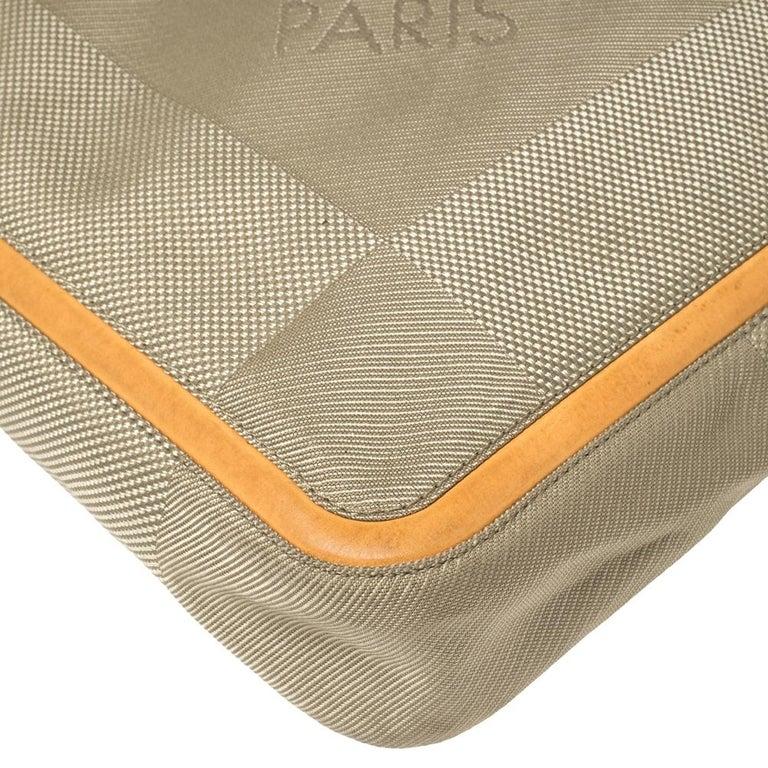 Louis Vuitton Sand Damier Geant Canvas Vertical Messenger Bag For Sale 6