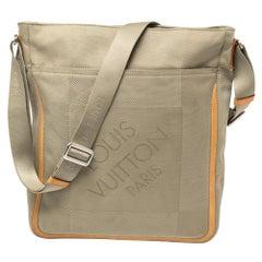 Louis Vuitton Sand Damier Geant Canvas Vertical Messenger Bag