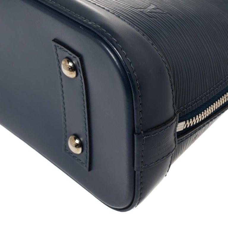 Louis Vuitton Saphir Epi Leather Alma BB Bag For Sale 6