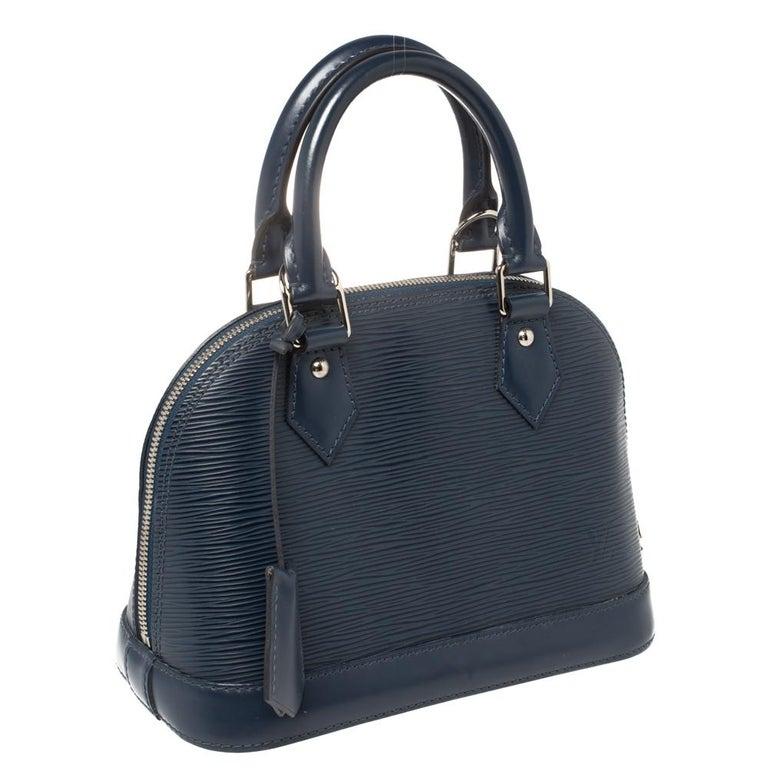 Black Louis Vuitton Saphir Epi Leather Alma BB Bag For Sale