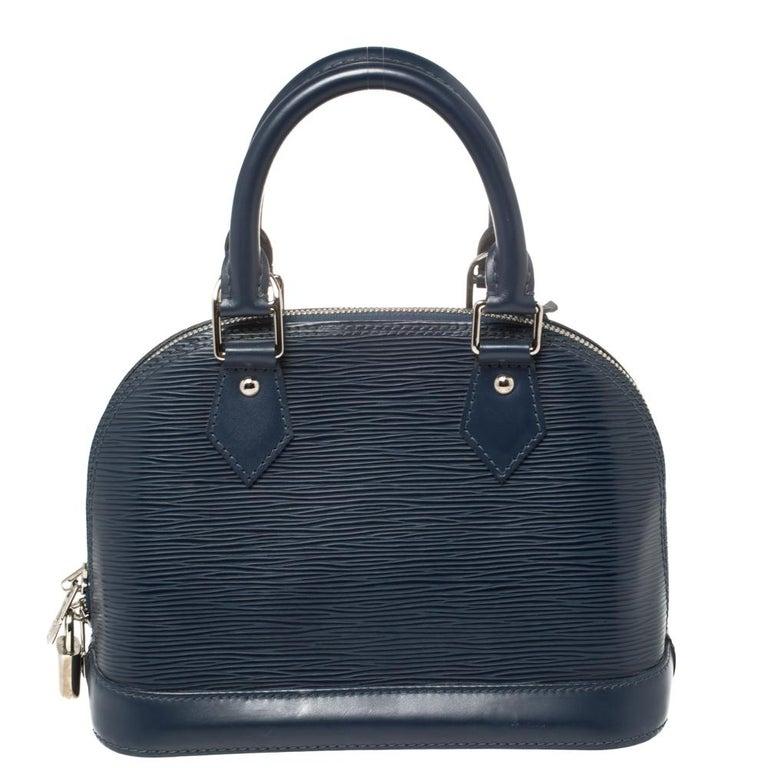 Louis Vuitton Saphir Epi Leather Alma BB Bag In Good Condition For Sale In Dubai, Al Qouz 2