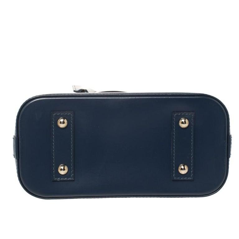 Women's Louis Vuitton Saphir Epi Leather Alma BB Bag For Sale