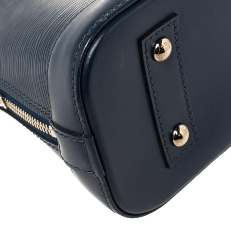 Louis Vuitton Saphir Epi Leather Alma BB Bag For Sale 3