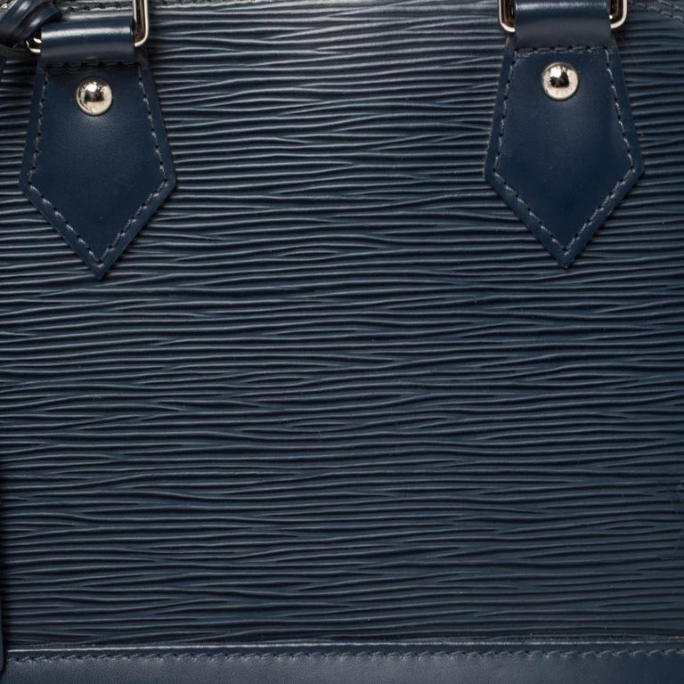 Louis Vuitton Saphir Epi Leather Alma BB Bag For Sale 4