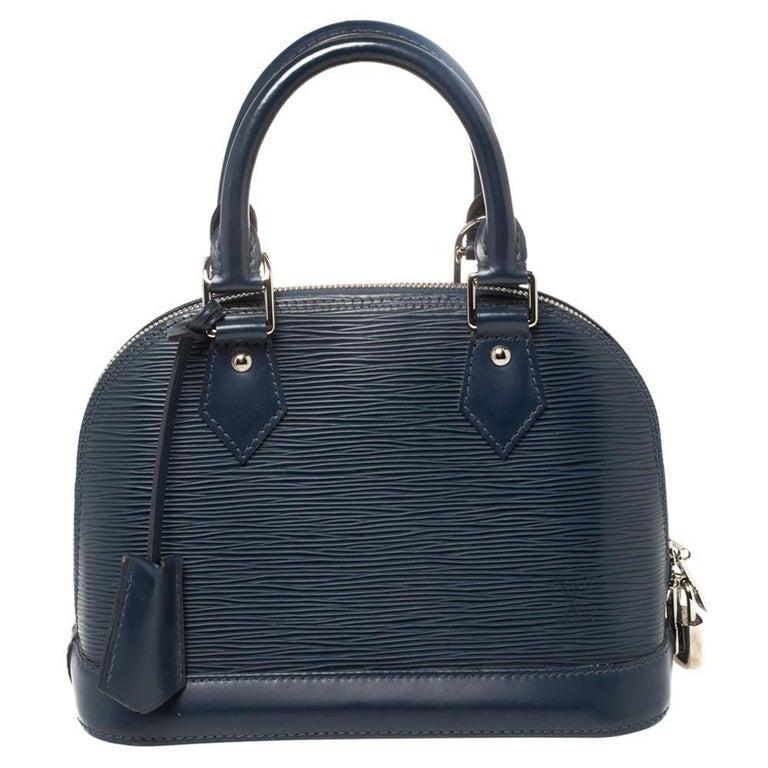 Louis Vuitton Saphir Epi Leather Alma BB Bag For Sale