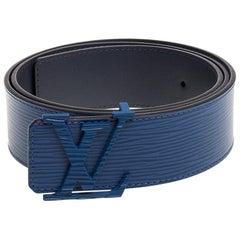 Louis Vuitton Saphir Epi Leather LV Initiales Belt 90 CM