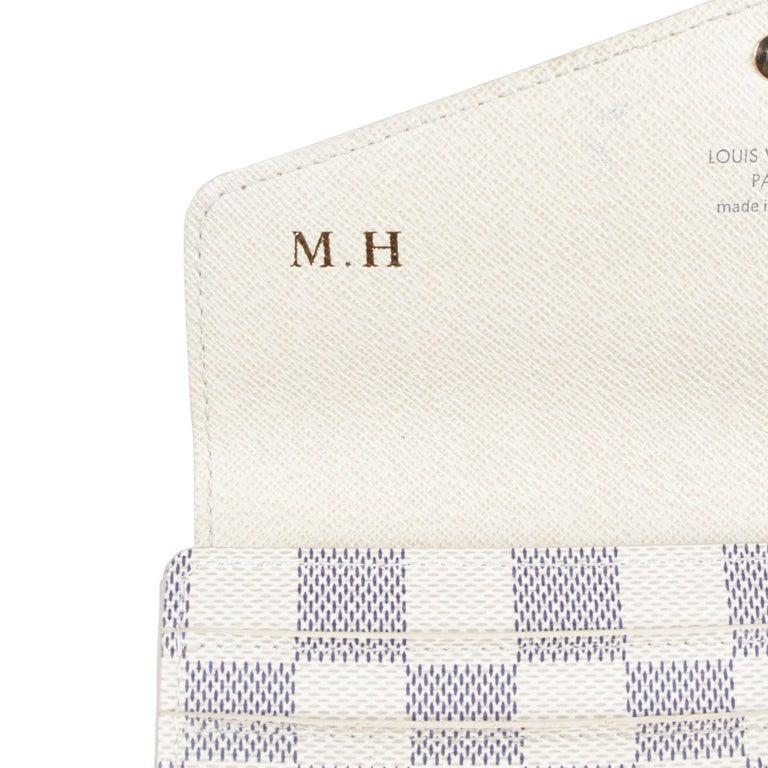 Women's or Men's Louis Vuitton Sarah Damier Azur Wallet  For Sale