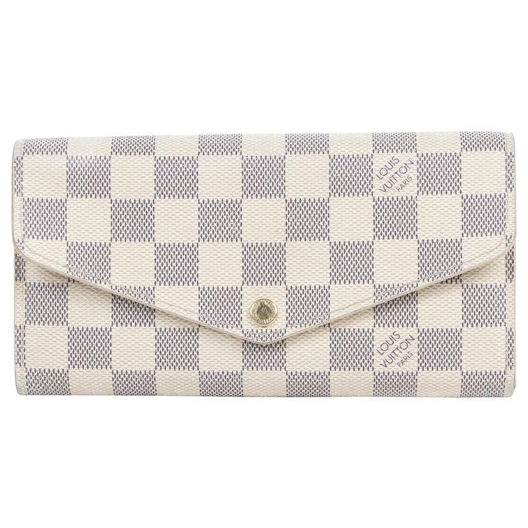 Louis Vuitton Sarah Damier Azur Wallet  For Sale