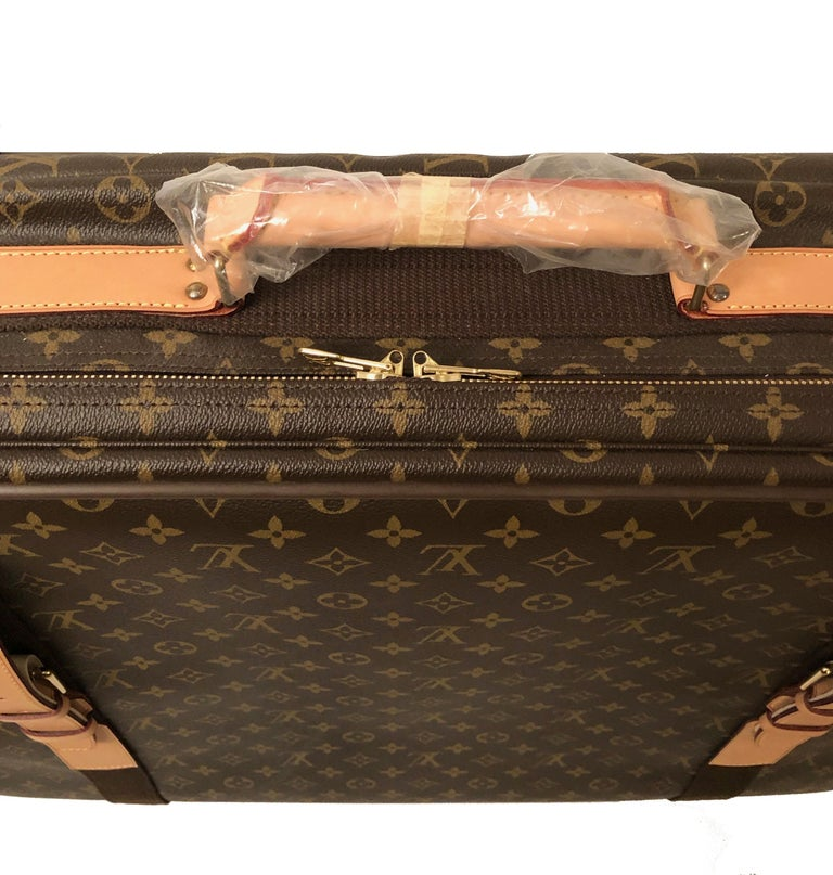 Brown Louis Vuitton Satellite 65 Monogram Suitcase For Sale