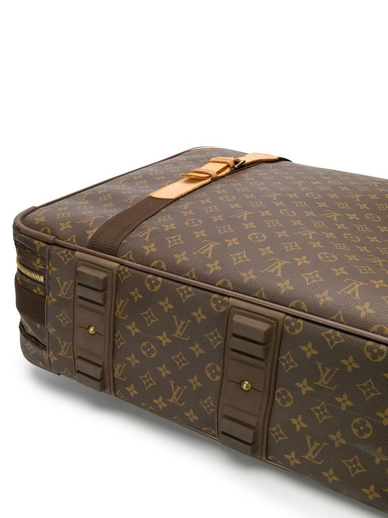 Brown Louis Vuitton Satellite 70 Monogram Canvas Suitcase For Sale