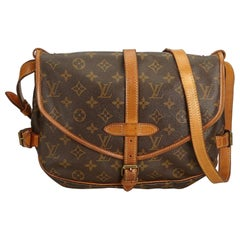 Louis Vuitton Saumur 30 Saddle Pm 869713 Brown Coated Canvas Cross Body Bag