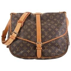 Louis Vuitton Saumur Handbag Monogram Canvas 35