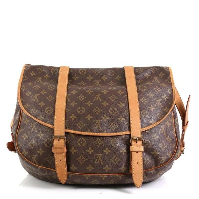 Brown Louis Vuitton Saumur Handbag Monogram Canvas 43