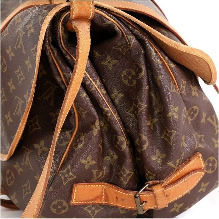 Louis Vuitton Saumur Handbag Monogram Canvas 43 1