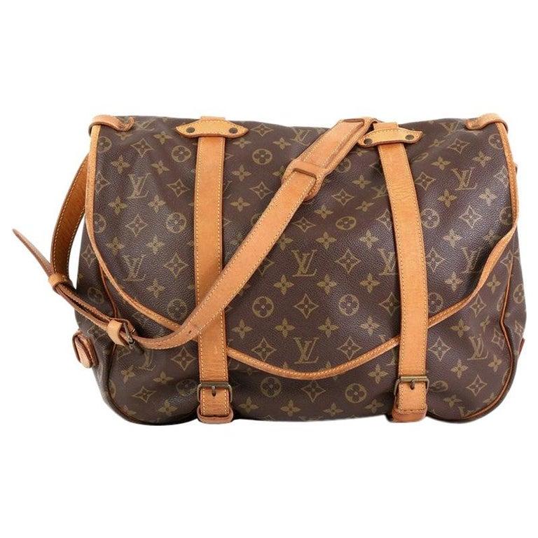 Louis Vuitton Saumur Handbag Monogram Canvas 43