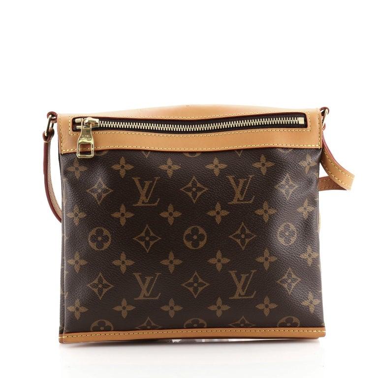 Black Louis Vuitton Saumur Messenger Bag Monogram Canvas PM For Sale