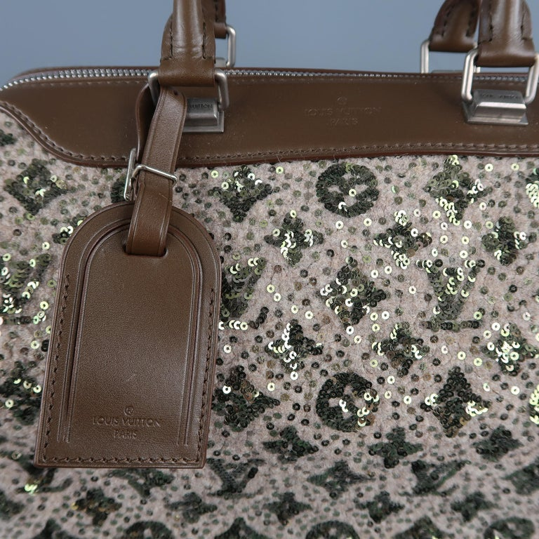 LOUIS VUITTON Sequin Monogram Sunshine Express Speedy Wooly Bag 3