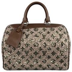 LOUIS VUITTON Sequin Monogram Sunshine Express Speedy Wooly Bag