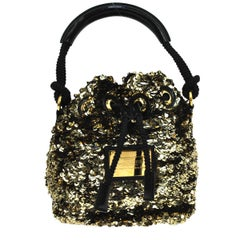 Louis Vuitton Sequin Patent Rope Small Mini Evening Top Handle Satchel Bag