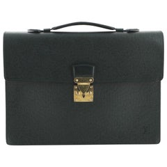 Louis Vuitton Serviette Kourad Briefcase Taiga Leather