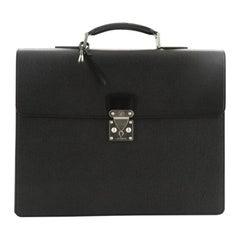 Louis Vuitton Serviette Moskova Briefcase Taiga Leather