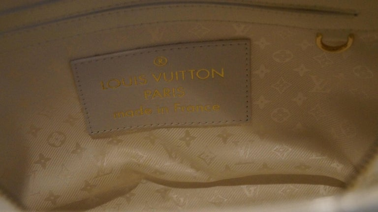 Louis Vuitton set x 2 Limited Edition White Braided Street Shopper Bags In Excellent Condition For Sale In Lugano, CH