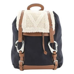 Louis Vuitton  Shearling Backpack Canvas with Shearling