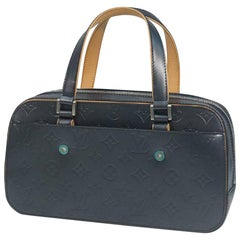LOUIS VUITTON Shelton Womens Boston bag M55175 blue