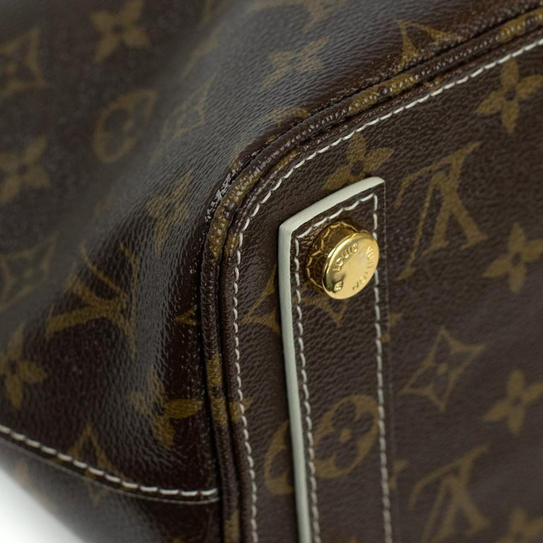 LOUIS VUITTON shine fetish lockit Handbag in Brown Canvas For Sale 5