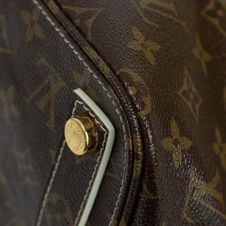 LOUIS VUITTON shine fetish lockit Handbag in Brown Canvas For Sale 6