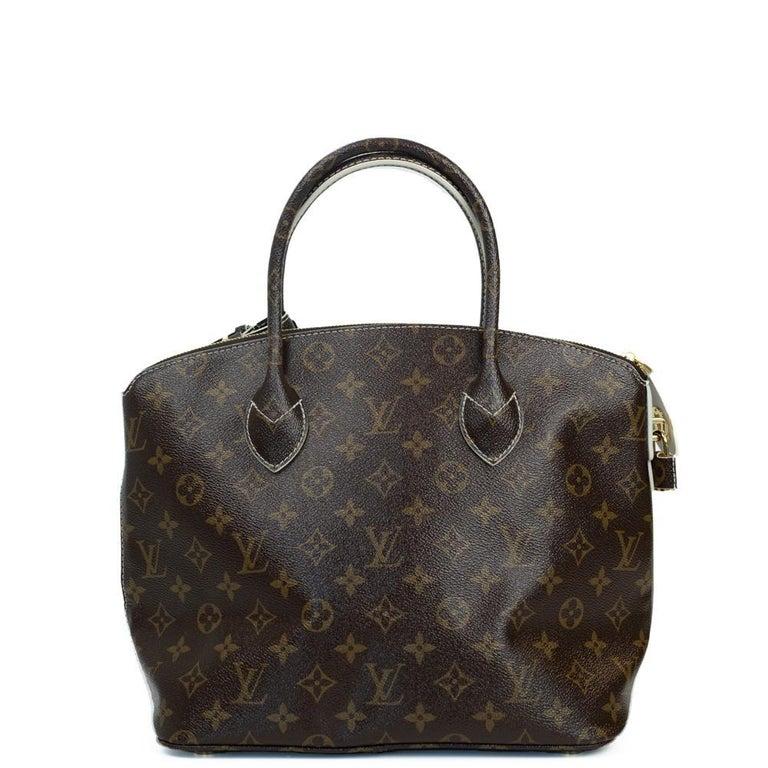Black LOUIS VUITTON shine fetish lockit Handbag in Brown Canvas For Sale