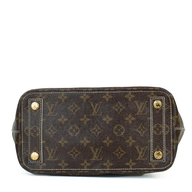 LOUIS VUITTON shine fetish lockit Handbag in Brown Canvas In Excellent Condition For Sale In Clichy, FR