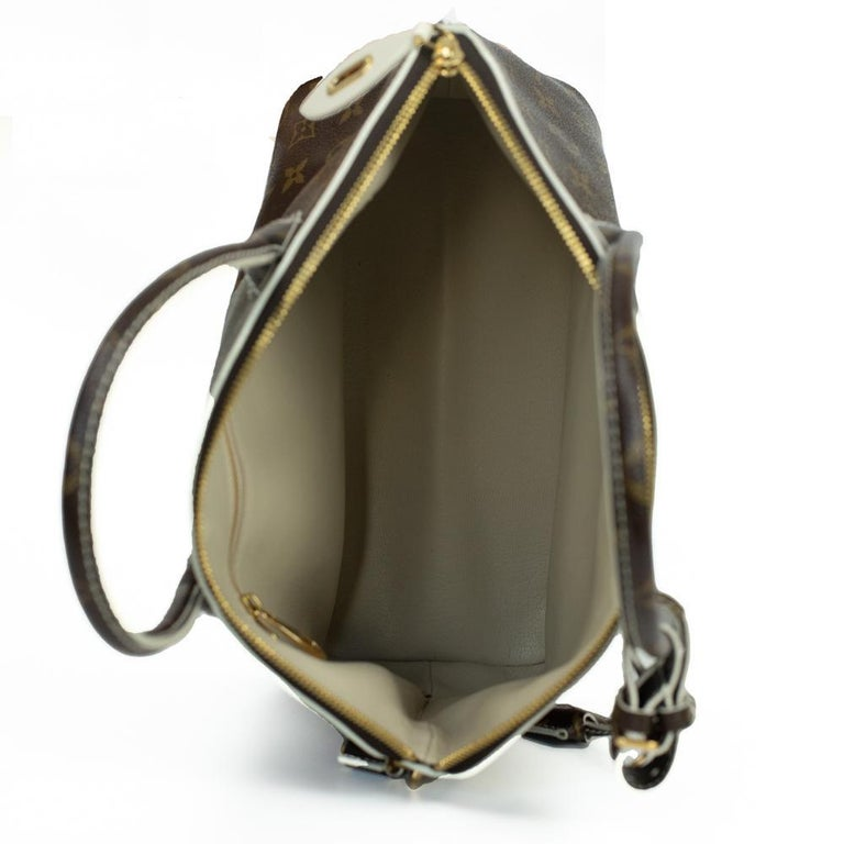 Women's LOUIS VUITTON shine fetish lockit Handbag in Brown Canvas For Sale
