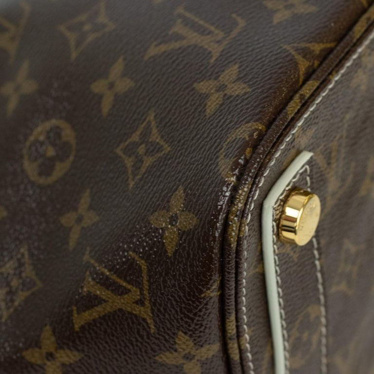LOUIS VUITTON shine fetish lockit Handbag in Brown Canvas For Sale 3