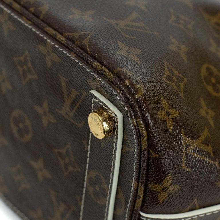 LOUIS VUITTON shine fetish lockit Handbag in Brown Canvas For Sale 4