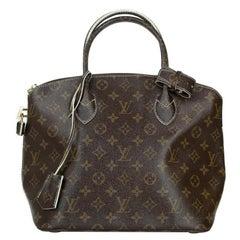 LOUIS VUITTON shine fetish lockit Handbag in Brown Canvas