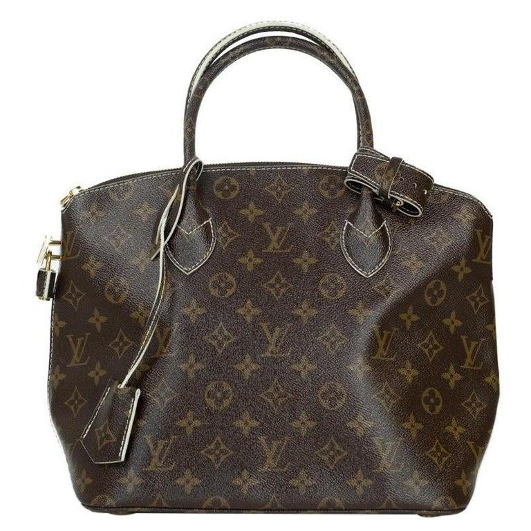LOUIS VUITTON shine fetish lockit Handbag in Brown Canvas For Sale
