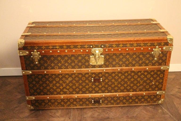 Cotton Canvas Louis Vuitton Shoe Trunk, Louis Vuitton Trunk, Louis Vuitton Steamer Trunk For Sale